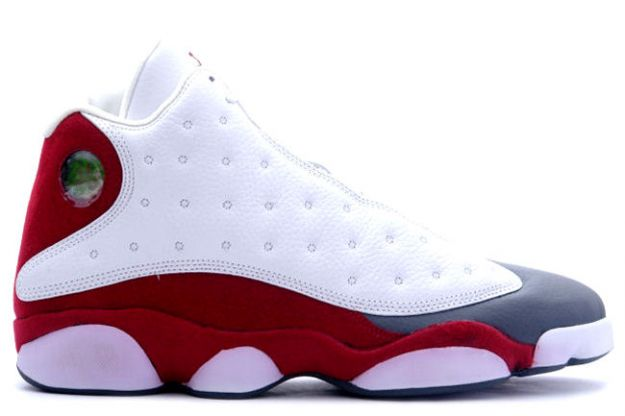 Jordan 13 Retro white team red flint grey shoes