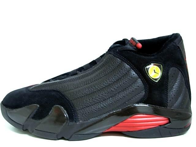 Air Jordan 14 Final Last Shot Black Varsity Red Shoes