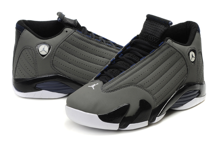 Jordan Retro 14 grey white shoes