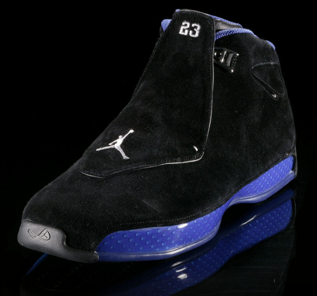 air jordan 18 black and blue
