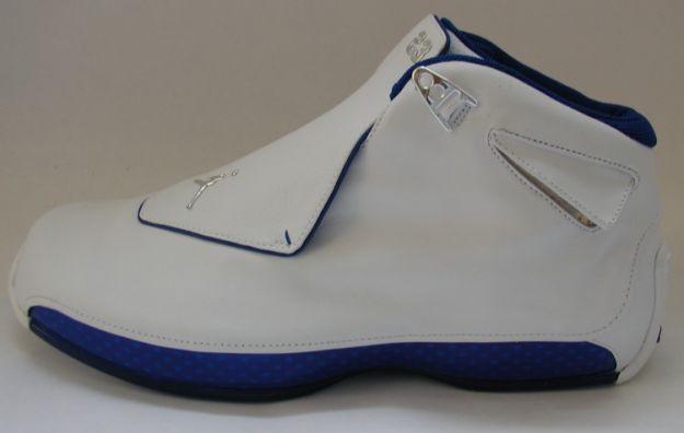 air jordan 18 white roya blue shoes