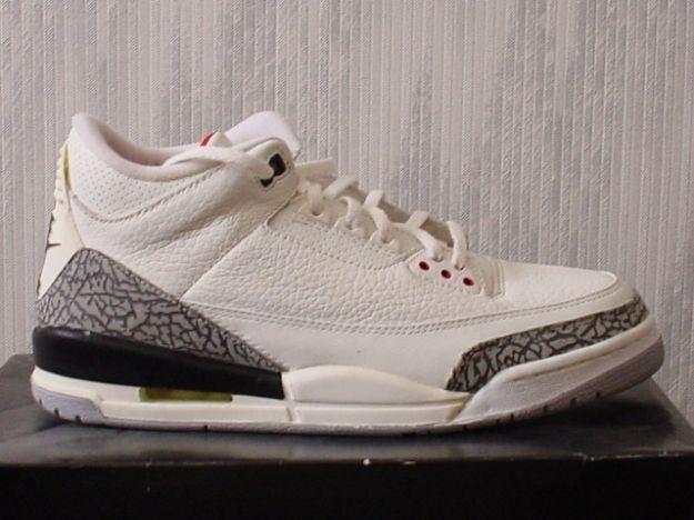 Jordan 3 Retro 1994 White Cement Grey Shoes