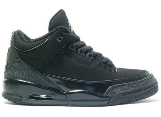 Jordan 3 Retro All Black Cat Charcoal Shoes