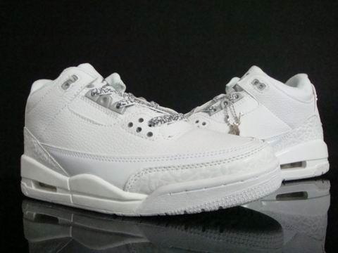 Jordan 3 Retro All White Shoes