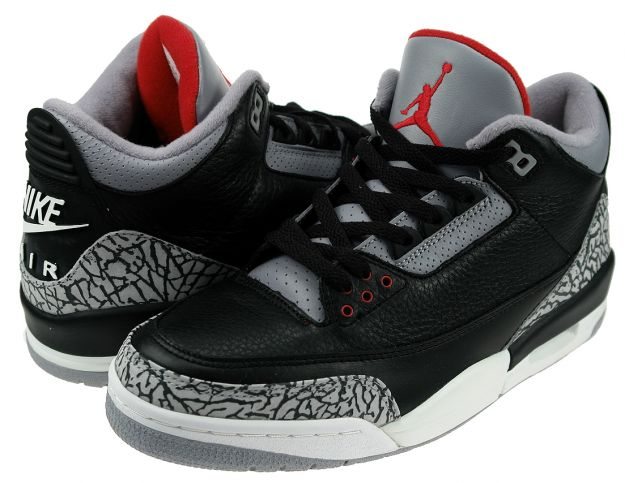 Jordan 3 Retro Black Cement Grey Shoes
