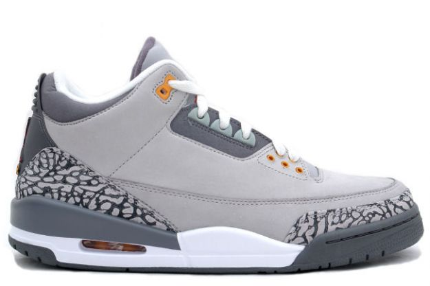 Jordan 3 Retro Silver Sport Red Light Graphite Orange Peel Shoes