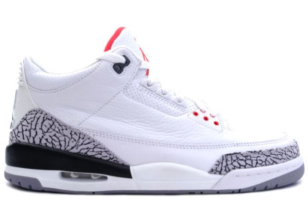 Jordan 3 Retro White Cement Grey Fire Red Shoes