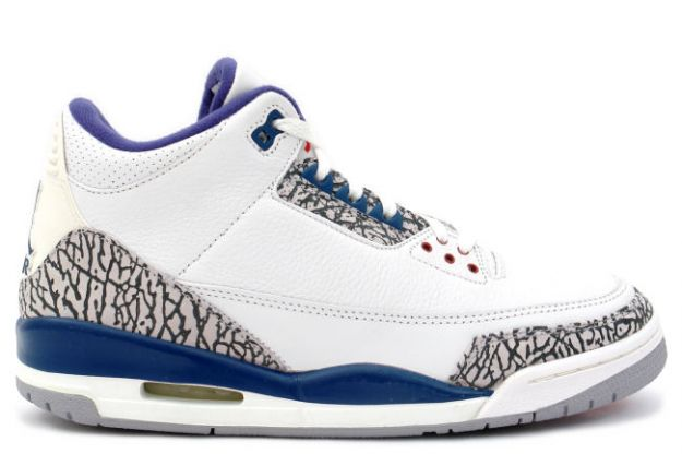 Jordan 3 Retro White True Blue Cement Shoes