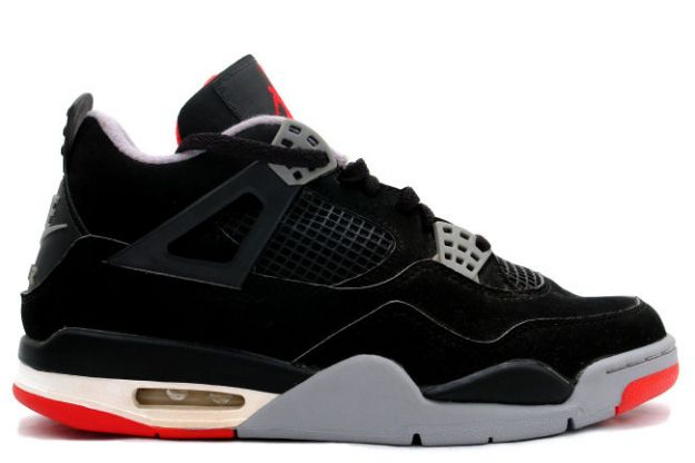 Jordan 4 Retro 1999 black cement grey shoes
