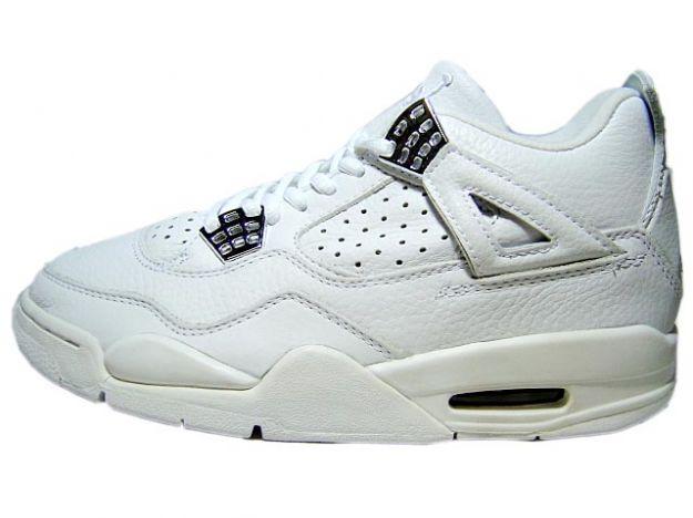 Jordan 4 Retro 2000 white chrome shoes