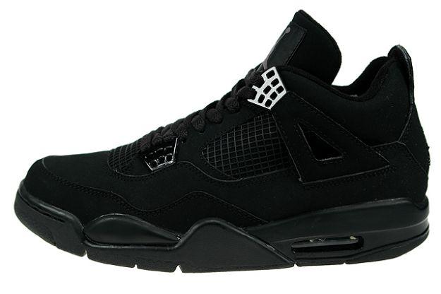Jordan 4 Retro black cat light graphite shoes