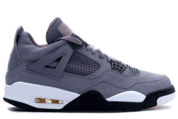 Jordan 4 Retro cool grey chrome dark charcoal varsity maize shoes