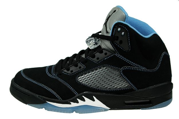 Jordan 5 Retro black university blue white shoes