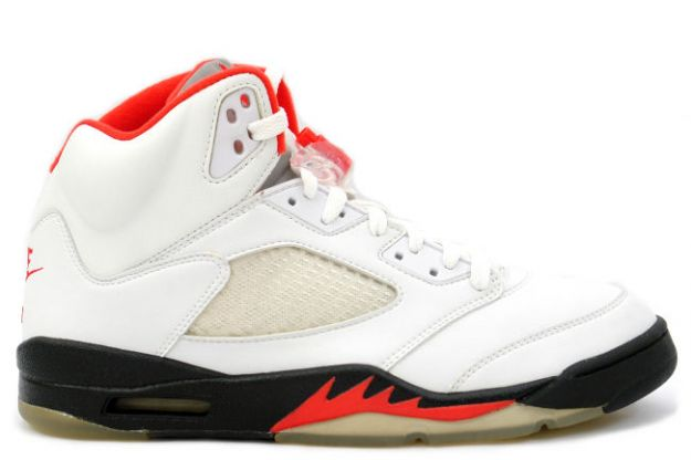 Jordan 5 Retro fire red white black fire red shoes