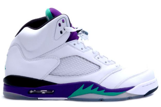Jordan 5 Retro white grape ice new emerald shoes