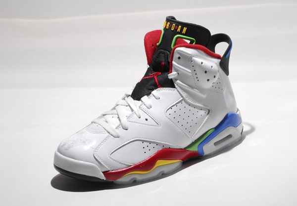 Air Jordan 6 Olympics Colors White Shoes