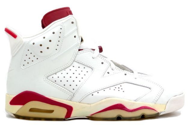 Air Jordan 6 Off White Maroon Shoes
