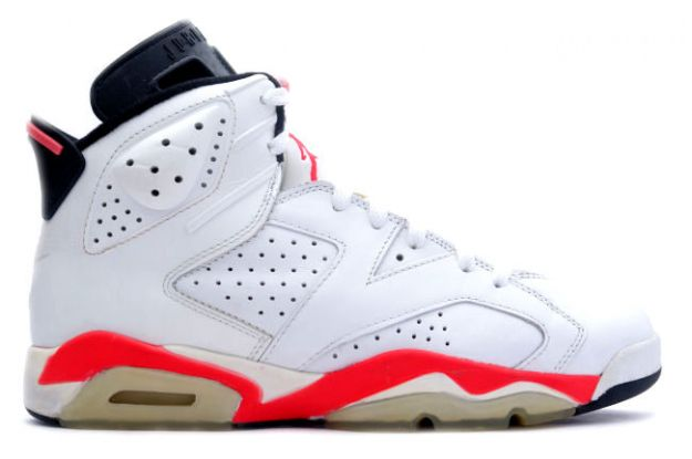 Air Jordan 6 White Infared Black Shoes
