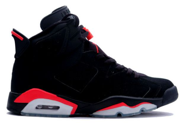 Jordan 6 Retro black deep infrared shoes