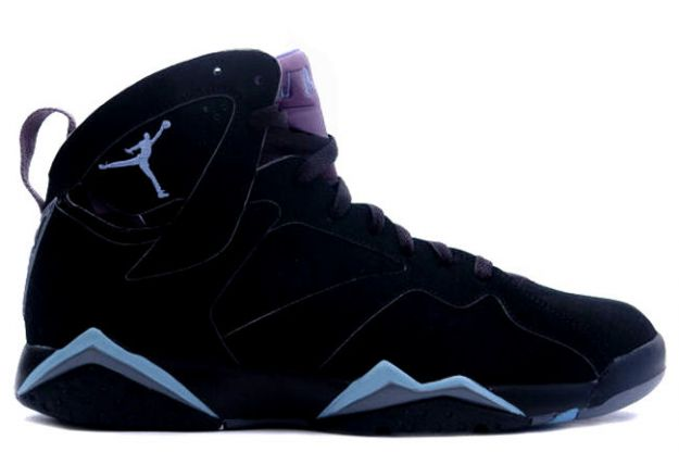 Jordan 7 Retro black chambray light graphite shoes