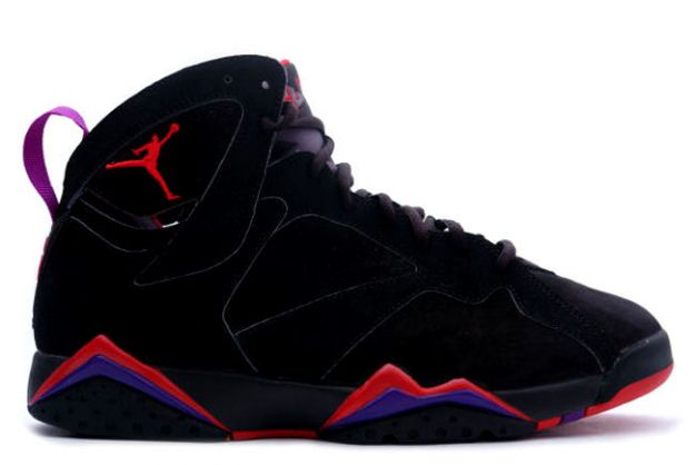 Jordan 7 Retro black dark charcoal true red shoes