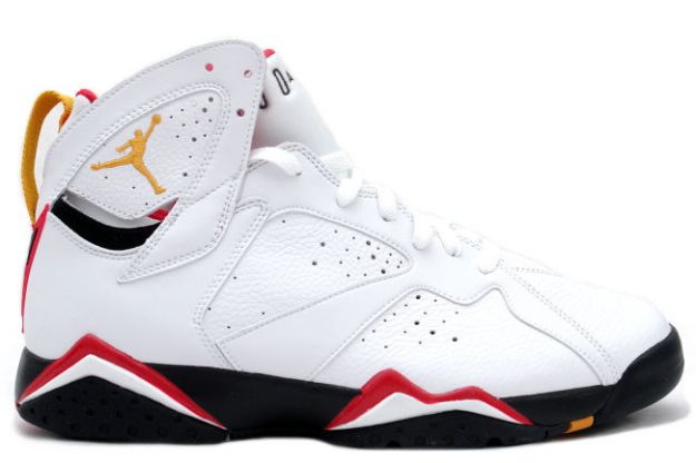 Jordan 7 Retro cardinals white black cardinal red bronze shoes