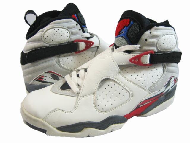 air jordan 8 white black true red shoes