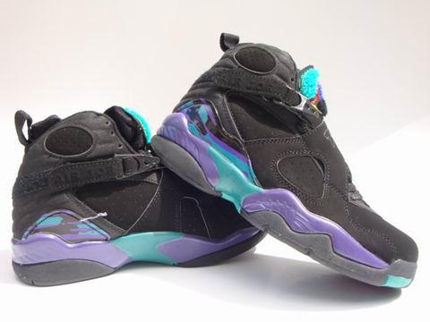 Jordan 8 Retro black green shoes