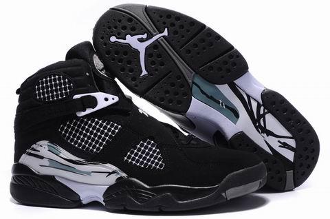 Jordan 8 Retro black grey shoes