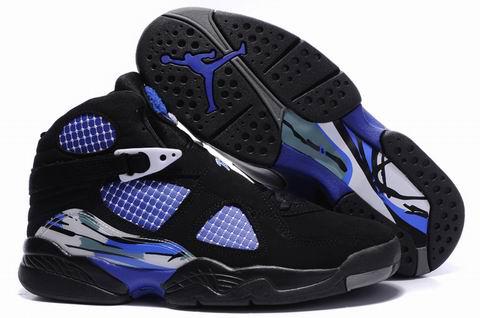 Jordan 8 Retro black true blue shoes