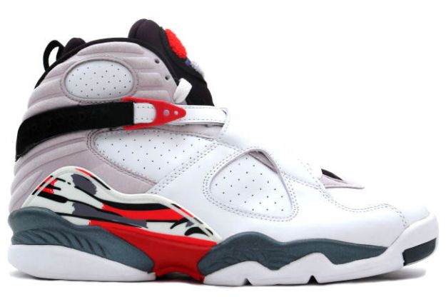 Jordan 8 Retro white black true red shoes