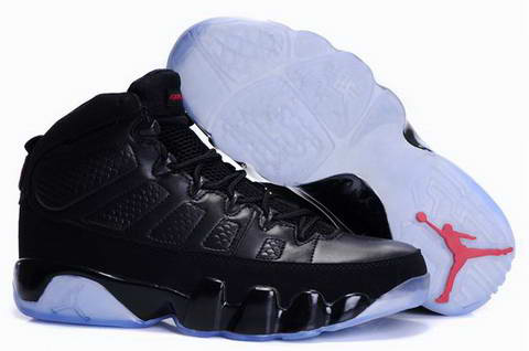 Jordan 9 Retro all black shoes