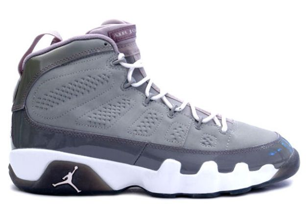 Jordan 9 Retro medium grey white cool grey shoes