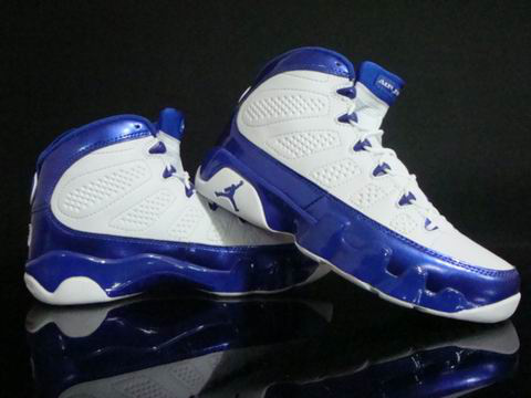 Jordan 9 Retro white blue shoes